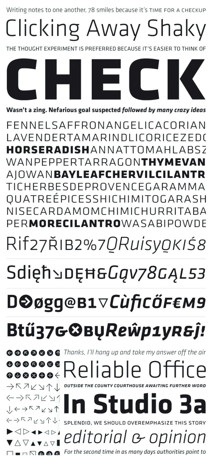 Say hello to Klavika Free Typeface Family! This is an ideal font for any project with its features such as small caps, true italics, extended language support and multiple numeral styles. Check it out and feel free to download!