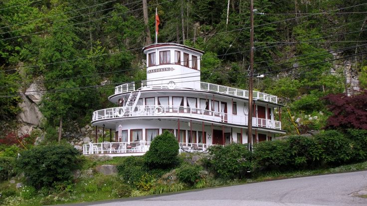 """A Home in Nelson B.C. just a few blocks East of the Orange Bridge that includes part of the Superstructure of the kootenay Lake Steamer """"Nasookin"""""""
