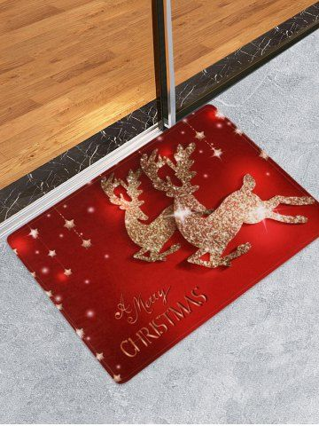 Starfish Print Absorbent Bath Rug Entryway Christmas Rugs