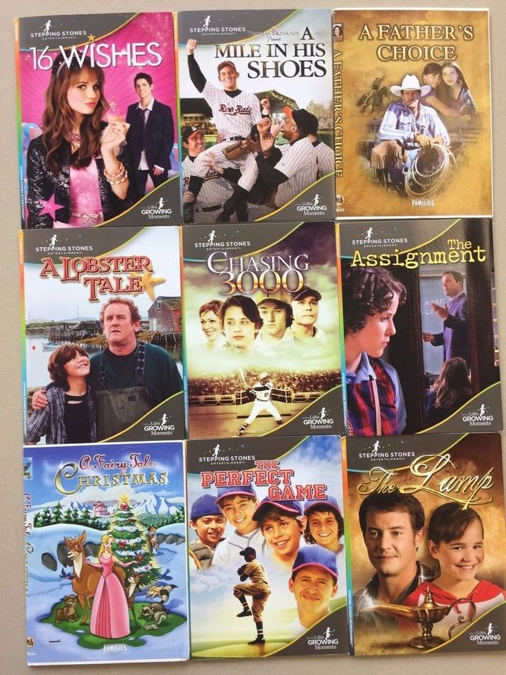 DVD Lot - Stepping Stones + Feature Films for Families 9 DVD set family movies