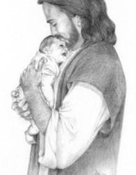 #Jesus holding #Baby - He #loves