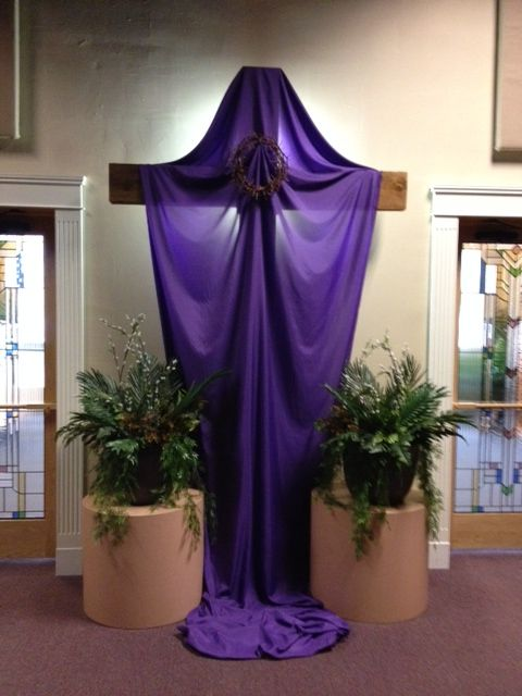 palm sunday cross with crown of thorns - Church Decorations