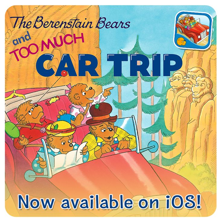 "Have you ever had to drag your reluctant cubs on a family road trip? Then you can relate to ""The Berenstain Bears and Too Much Car Trip""! Join the Bears on our trip through Bear Country as Brother and Sister learn that road trips are not so boring after all! Grab the book app here: http://www.oceanhousemedia.com/products/toomuchcartrip/"
