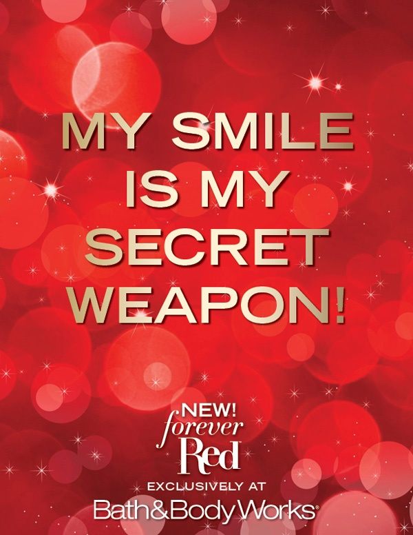 Premiering November 5 NEW Forever Red - Our Most Luxurious Fragrance Ever! See more at http://www.BathandBodyWorks.com/ForeverRed #BBWForeverRed