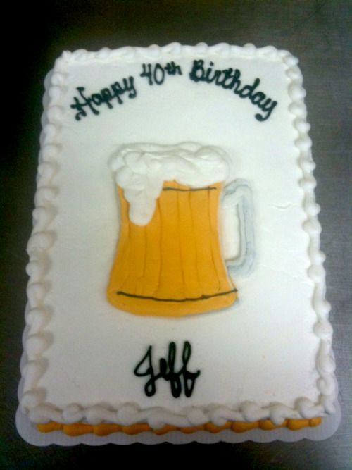 Beer glass cake, Father's day or guys birthday cake!