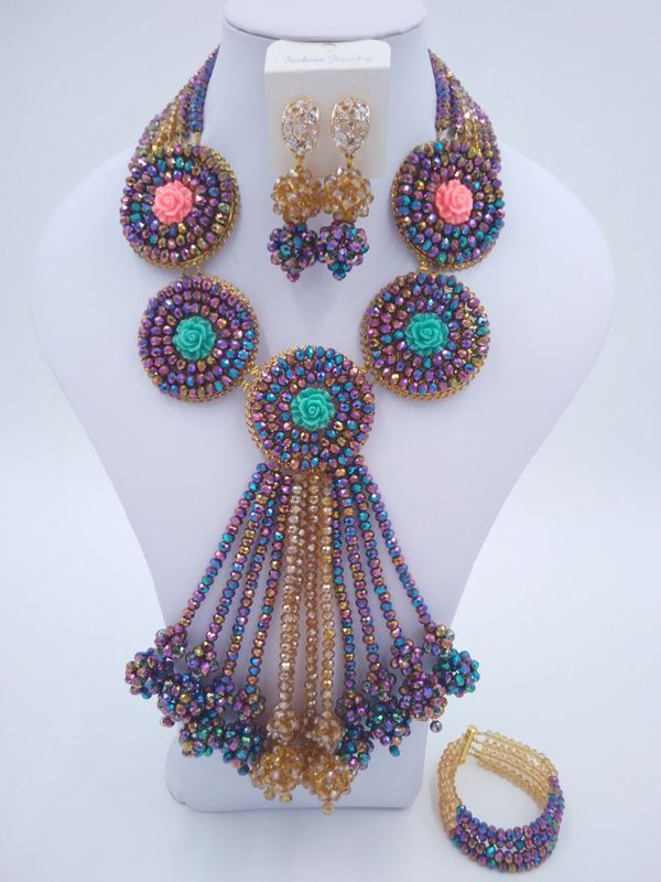 Find More Jewelry Sets Information about luxurious Nigeria Wedding african beads jewelry set Metal Multicolor Crystal necklace Bridal Jewelry Sets Free shipping YJ 049,High Quality jewelry box ring holders,China jewelry bijoux Suppliers, Cheap jewelry pakistan from Majalia Nigeria Africa wedding jewelry co., LTD store on Aliexpress.com