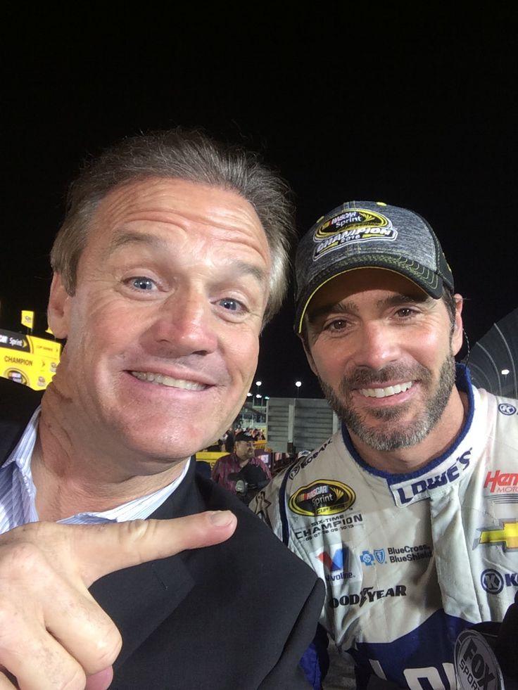 JJ with Kenny Wallace in Victory Lane. #Se7en