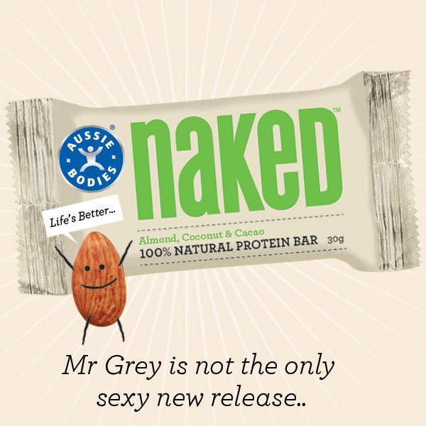 Go nuts. Go naked.  NEW. 100% Natural Protein Bar. Two great flavours. Available now at Woolworths