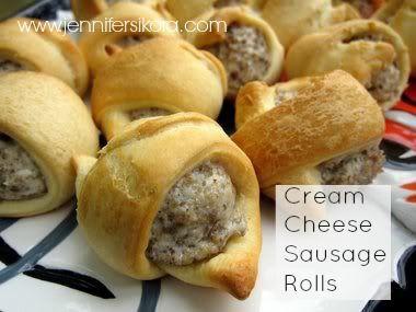 Cream Cheese Sausage Rolls - Jen's Journey