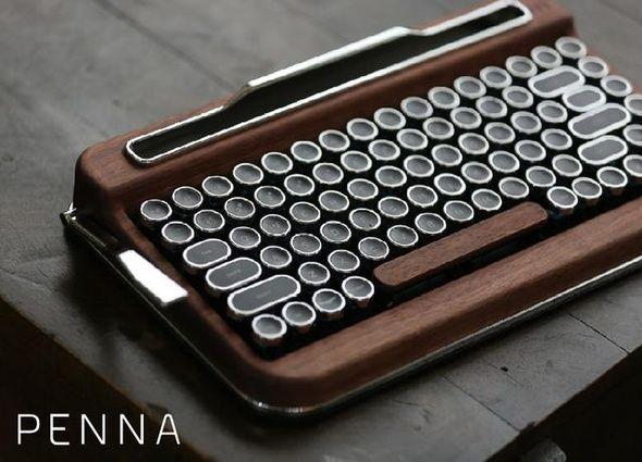 タイプライター風BTキーボード「PENNA」 Makuakeで予約販売開始 - ITmedia PC USER