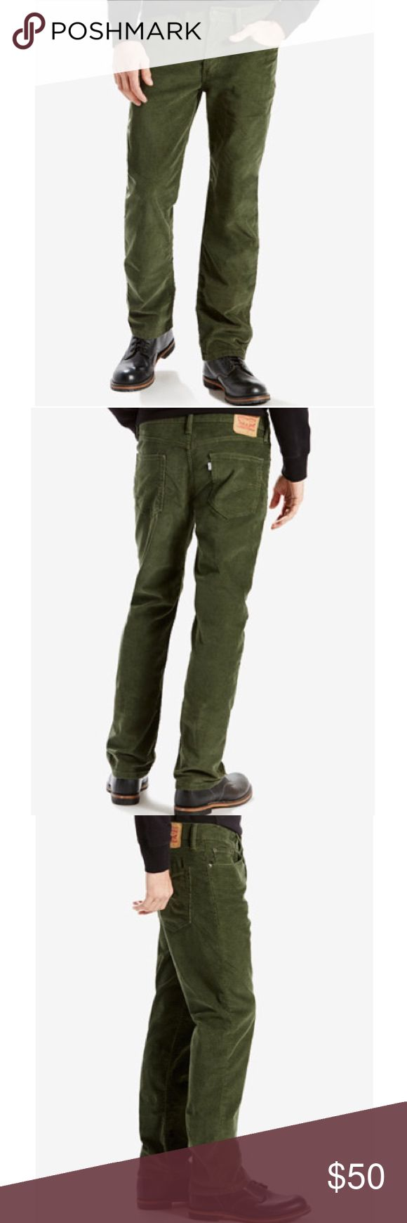 NWT - Levi's 514 Straight Fit Corduroys 34x32 514 Straight Fit Corduroys are a classic. Cut to sit low on the waist, generous through the seat and thigh, with a straight-leg opening from knee to ankle. Best for athletic to medium builds. 34x32. Olive green. Never worn - new without tags. Levi's Pants Corduroy
