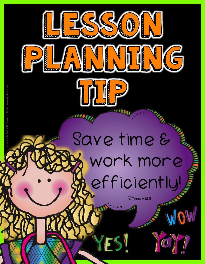 Lesson Planning Tip: Save Time:  I personally subscribe to the work smarter not harder philosophy of life.  When I began to notice that more and more of my prep periods were being used for this meeting or that meeting, I knew that I needed help.  Read about what the system that saved me time and STRESS!