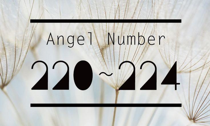 angelnumber220_221_222_223_224   エンジェルナンバー 220, 221, 222, 223, 224の意味と数秘術
