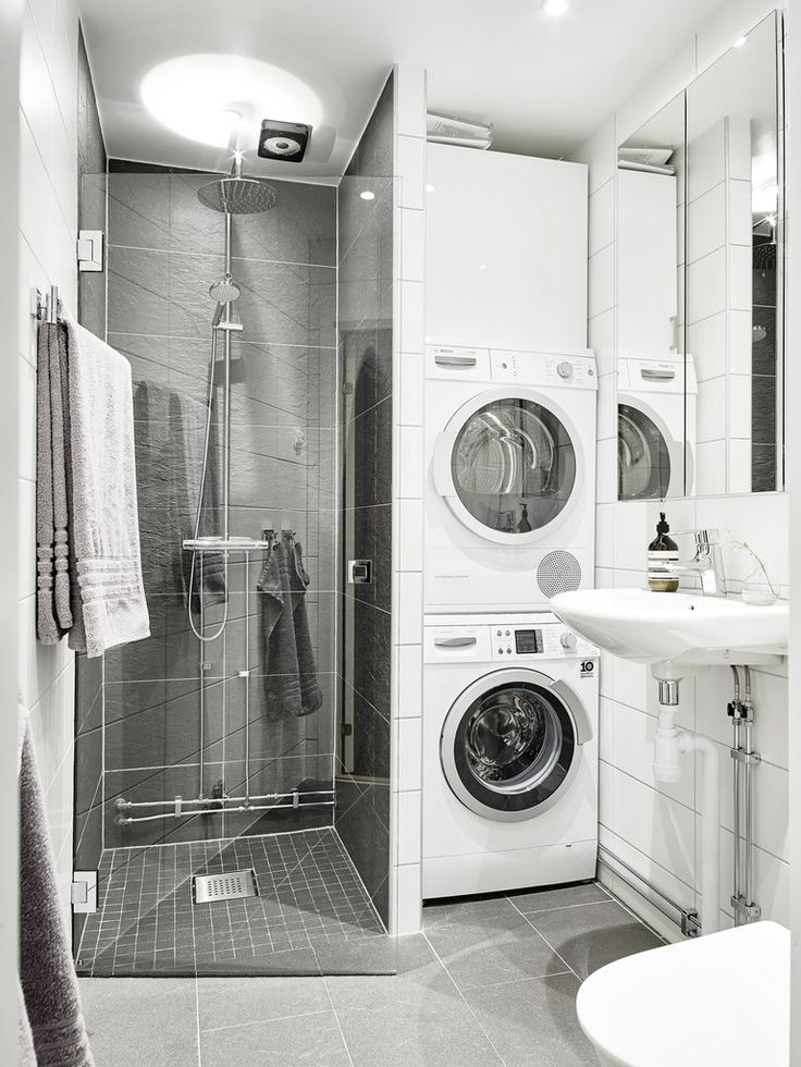 shower and laundry