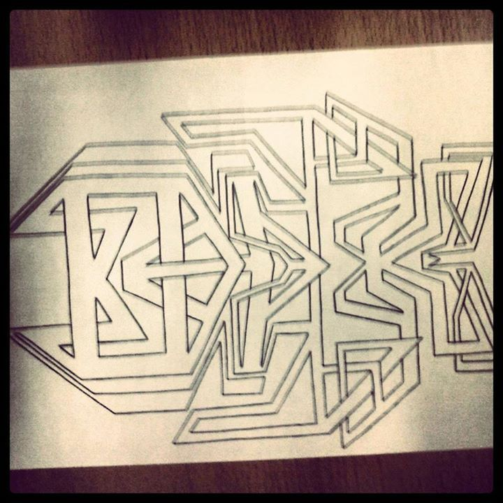 drawing made by Kenny de Ridder