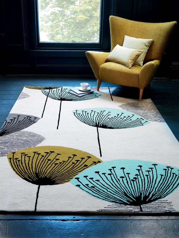 Sanderson Dandelion Clocks rug