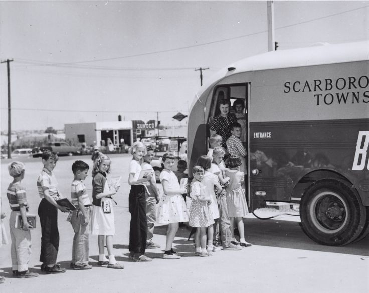 """In the 1950s, this bookmobile helped hundreds of Scarborough families """"Grow a Reader"""" by bringing books directly to the kids and adults who could not easily reach a library branch. Evolving from horse-drawn carts in the 19th Century, they are still very much an active part of many library systems, today. Bookmobiles help Toronto Public Library and many other libraries worldwide reach more readers. #LibraryMoments"""