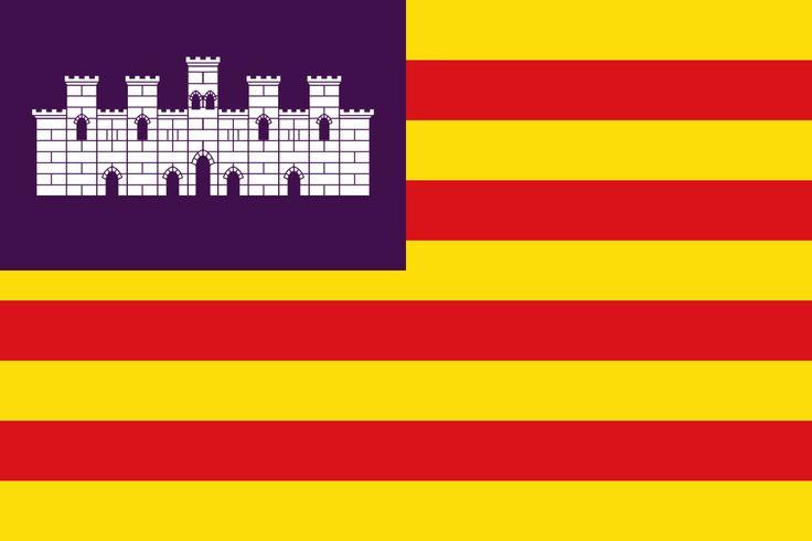Flag of the Balearic Islands - Bandeiras da Europa – Wikipédia, a enciclopédia livre