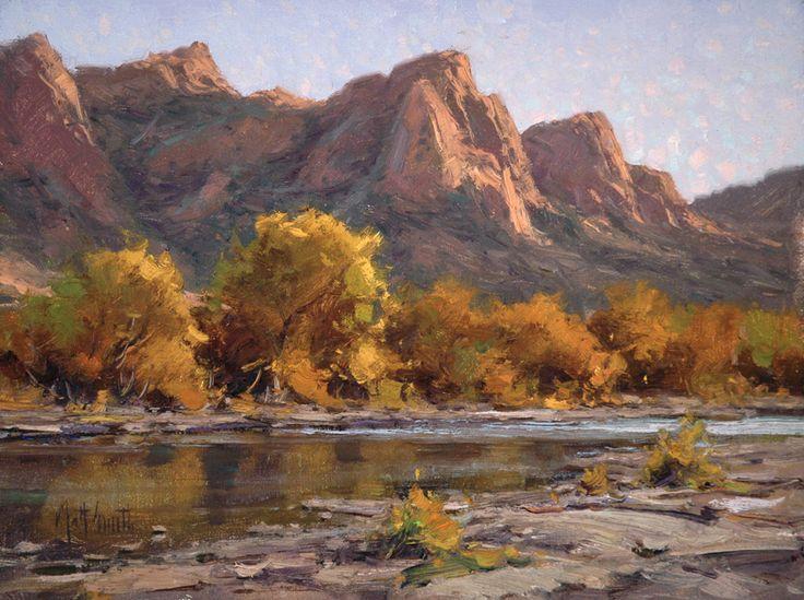 """""""Autumn on the Salt"""" by Matt Smith 12x16 oil $3200 at the Waterhouse Gallery"""