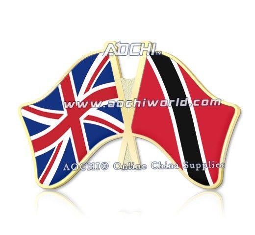 Mix высокое Качество и Матч Великобритания и Тринидад и Тобаго Скрещенные Штыри Отворотом Флагов