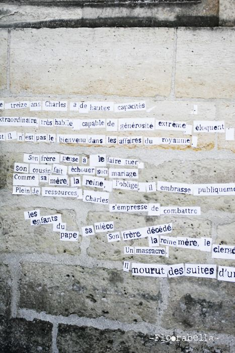 Quotes on wall