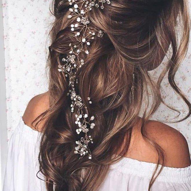 Bridal hairstyles 2018, make-up and accessories. , , #brautfrisuren # bridal hairstyles2018