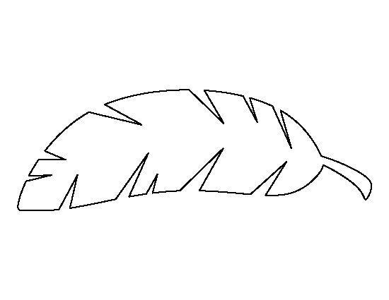 Tropical Leaf Outline Banana leaf pattern. use the printable outline for crafts ...