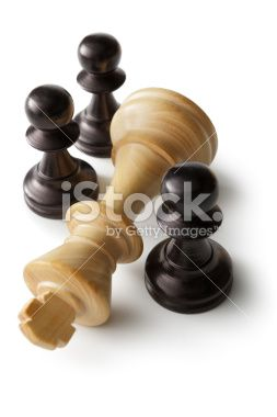 Chess: King and Pawns Royalty Free Stock Photo