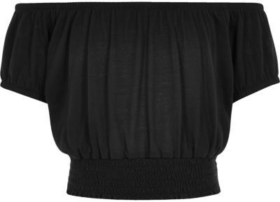 River Island Girls black bardot top