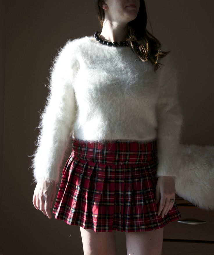 80 Angora Rabbit Fur Sweater by Ballinger Gold Furry Thick ...