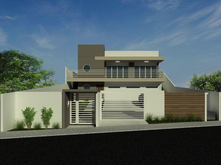 Casas y fachadas modernas interesting fachadas de casas for Fachadas frontales de casas