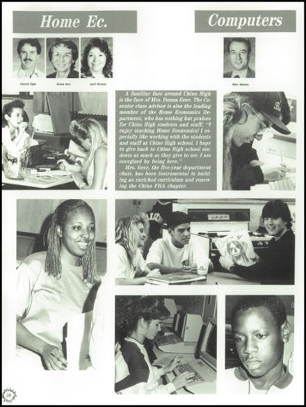 1990 Chino High School Yearbook via Classmates.com