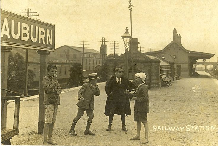 School boys at Auburn Station (year unknown)