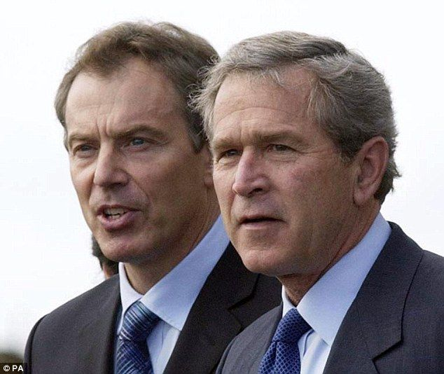 War Criminals!... Tony Blair, former UK Prime Minister and former USA President George Bush sanctioned the Iraq invasion to bring down Saddam Hussein's regime. The cost of the Iraq War in human lives: 461,000 killed between March 2003 and June 2011