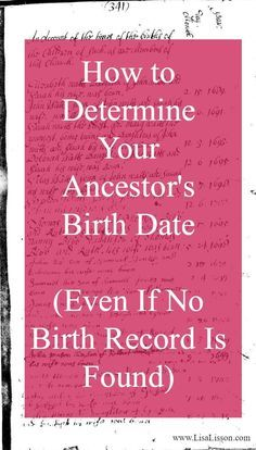We are familiar with the traditional birth certificate research. We use those for documenting the birth date of an ancestor, their parents' names, and their location in time. But you do not have to go too far back in your research timeline to a point when formal birth records were required. The question in your research very quickly becomes... How do you determine a birth date for your ancestor in the absence of a birth certificate? #genealogy