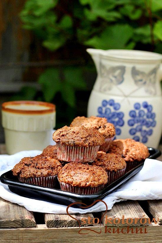 muffiny truskawkowe z czekoladą