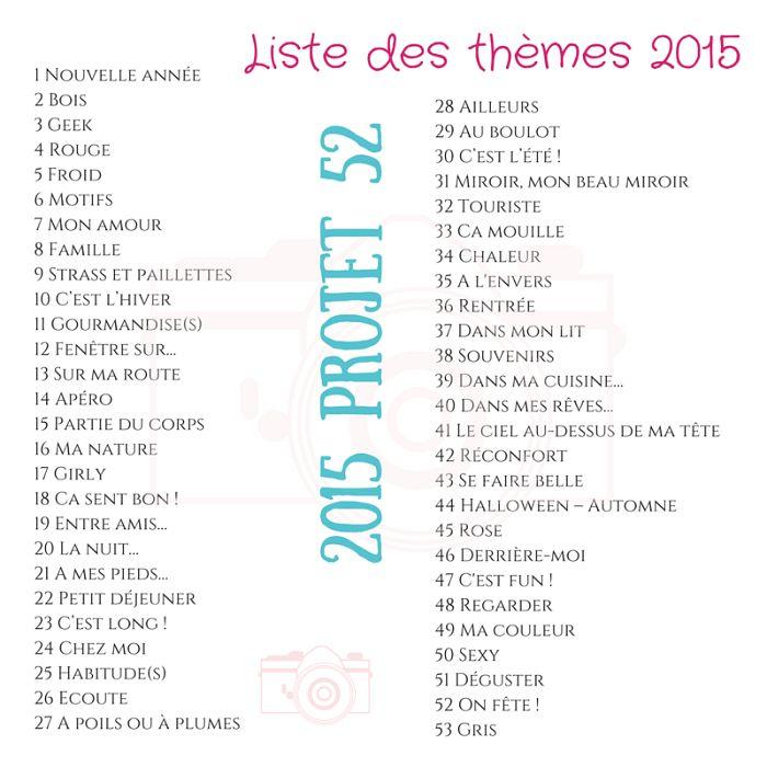 Liste des thèmes pour 2015 !