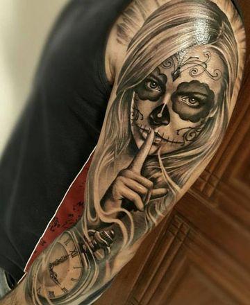 tatuajes de caras de mujeres para brazo