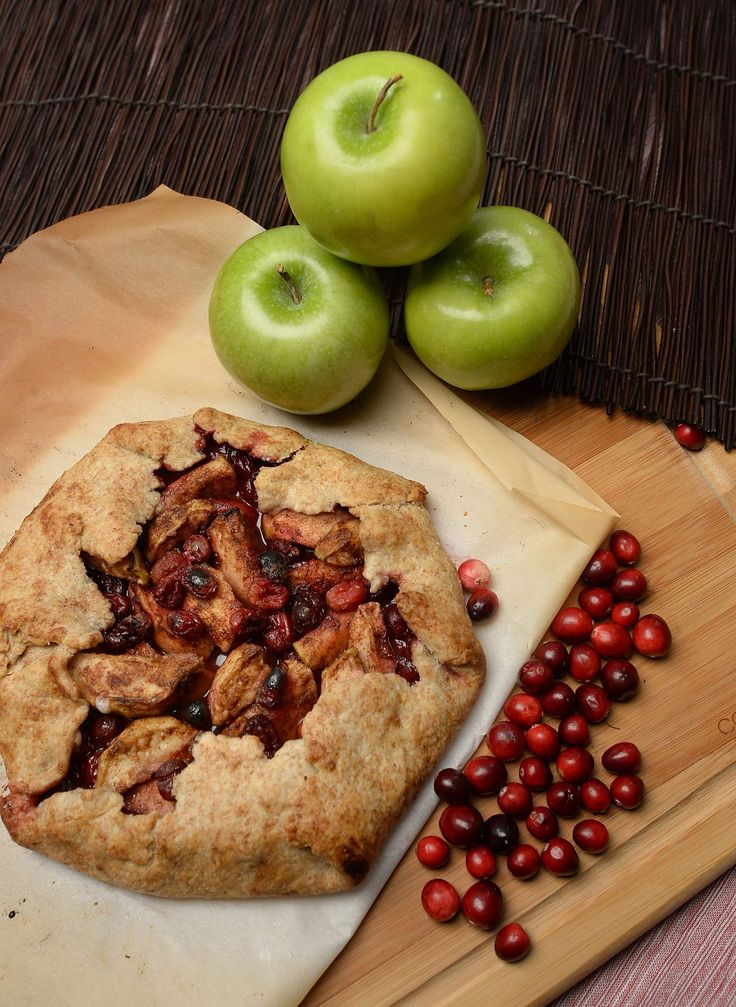 Apple-cranberry galette wraps!