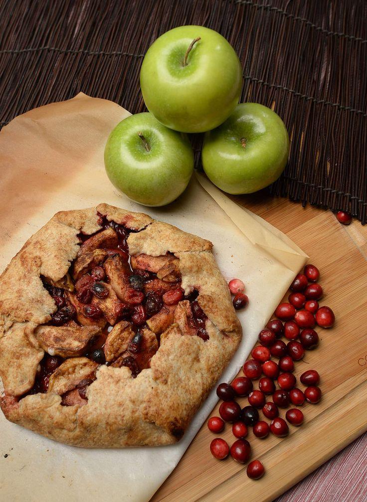 Apple-cranberry galette wraps!