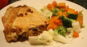 Delicious lentil pie - vegetarian cooking