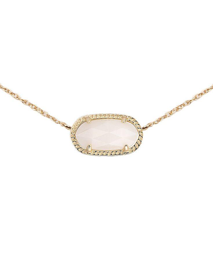 Elisa Pendant Necklace in White Pearl - Kendra Scott Jewelry.