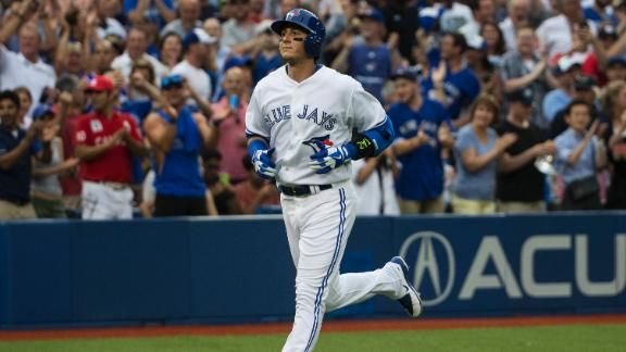 Welome to Toronto!-Troy Tulowitzki (HR, 3 RBIs) breaks game open in Blue Jays debut