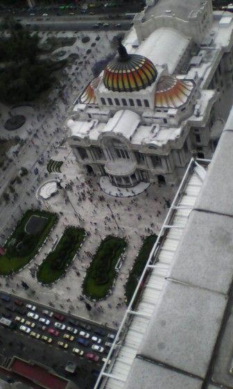 Vista del Mirador de la Torre Latinoamericana,México,D.F.