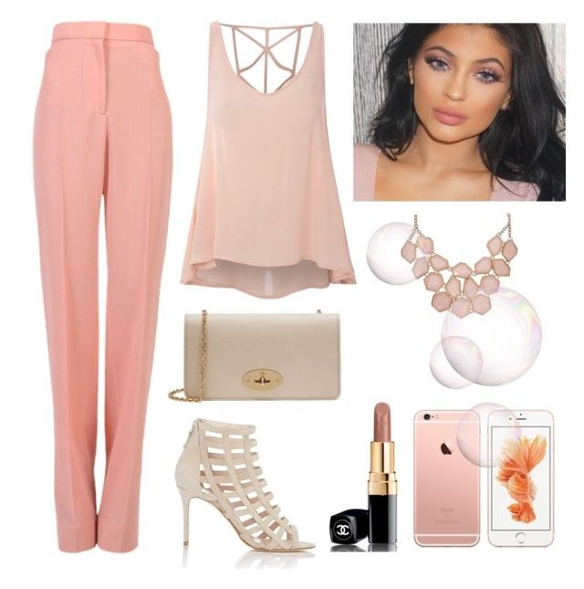 Pink Touch by rosehage on Polyvore featuring polyvore, fashion, style, Glamorous, Barneys New York, Mulberry, Chanel, STELLA McCARTNEY, women's clothing, women's fashion, women, female, woman, misses and juniors
