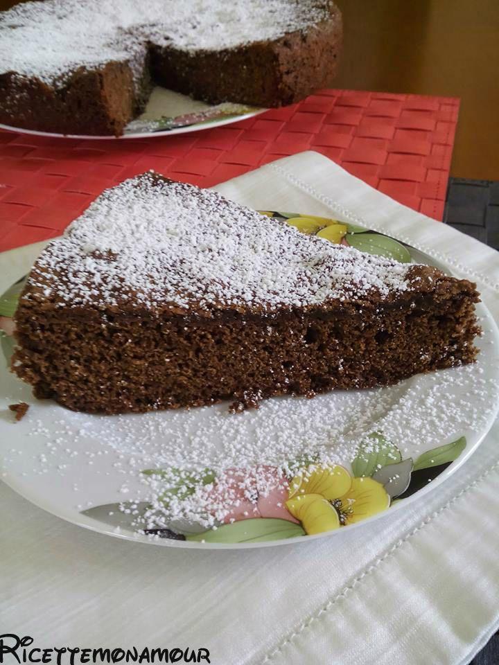 torta moretta al #caffè senza latte burro uova e olio