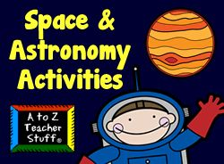 Space & Astronomy Lesson Plans, Printables, and Theme Unit Activities