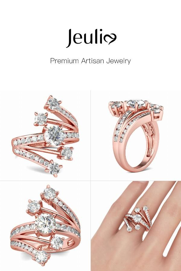 33a7ed2ecc1d7 Fancy Rose Gold Tone Round Cut Sterling Silver Ring | Products ...