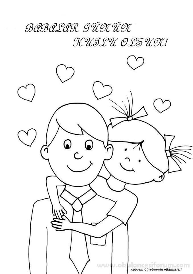 Babalar Günü Boyama Sayfaları Patterns And Designs Pinterest