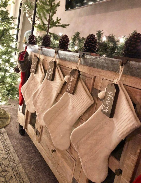 Wooden Tags Ornaments Personalized